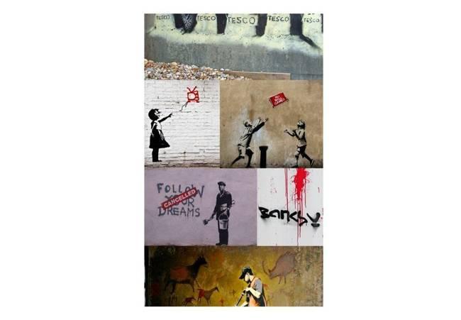 Fototapeta - Banksy - kolaż