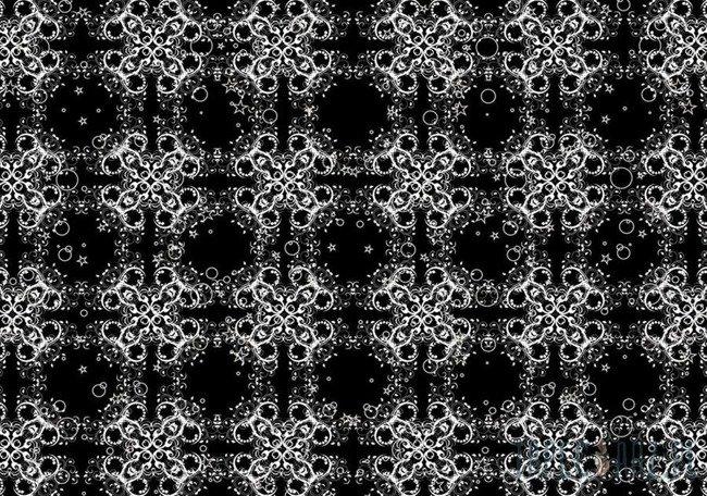 Fototapeta Białe ornamenty na czarnym tle 2554