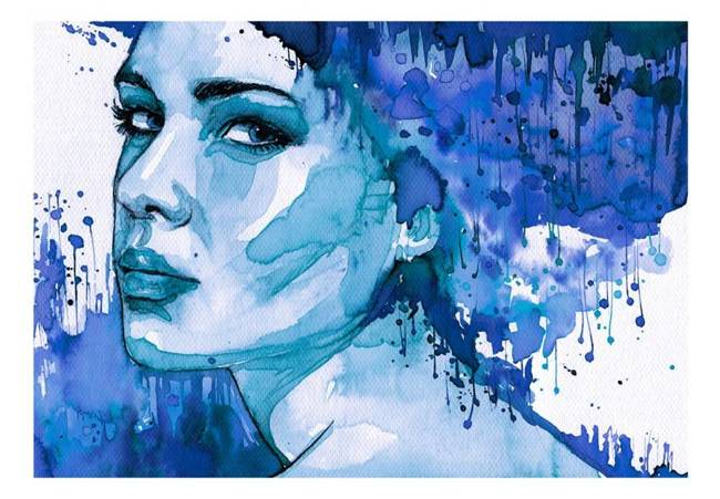 Fototapeta - Błękitna dama