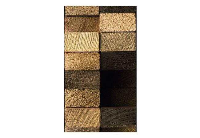 Fototapeta - Chronieni drewnianym splotem