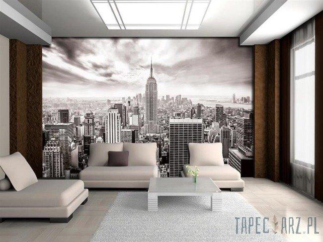 Fototapeta Czarno-biała panorama Nowego Jorku 2318