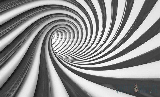 Fototapeta Czarno-biały tunel 3D 2173