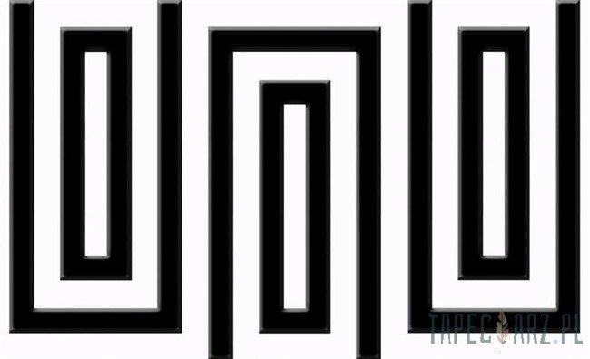 Fototapeta Czarno-biały wzór geometryczny 857