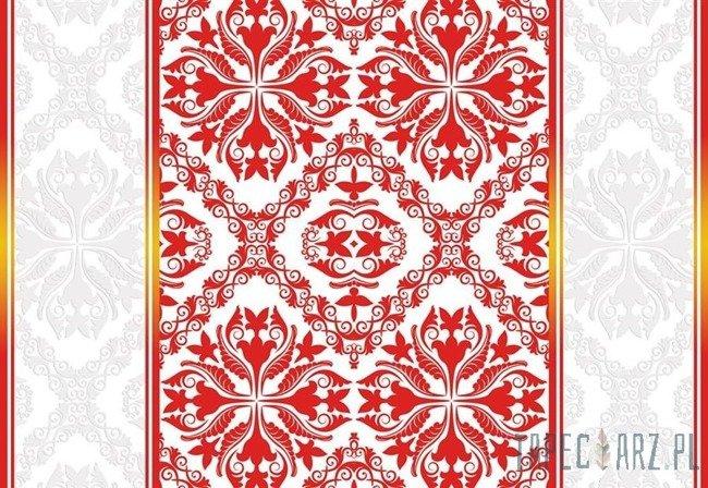 Fototapeta Czerwono-biały ornament 2289