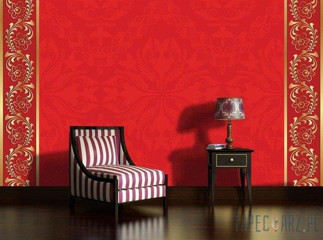 Fototapeta Czerwono-złoty ornament 2033