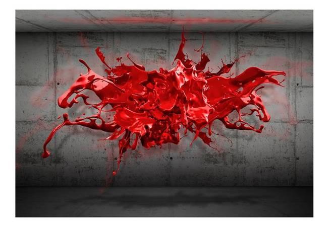Fototapeta - Czerwony kleks