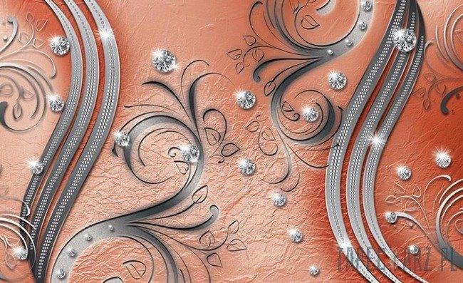Fototapeta Diamenty pomarańczowy wzór 2048