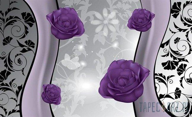Fototapeta Fioletowe róże 1243
