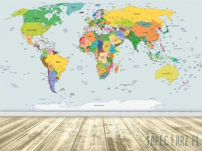 Fototapeta Fizyczna mapa świata 2644