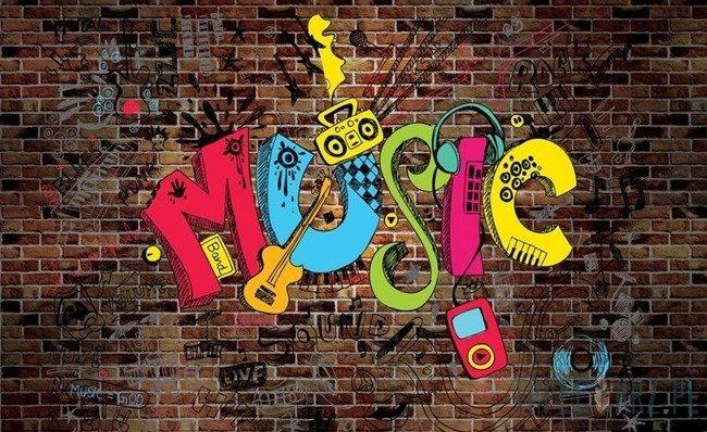 Fototapeta Graffitti - Muzyka 11797