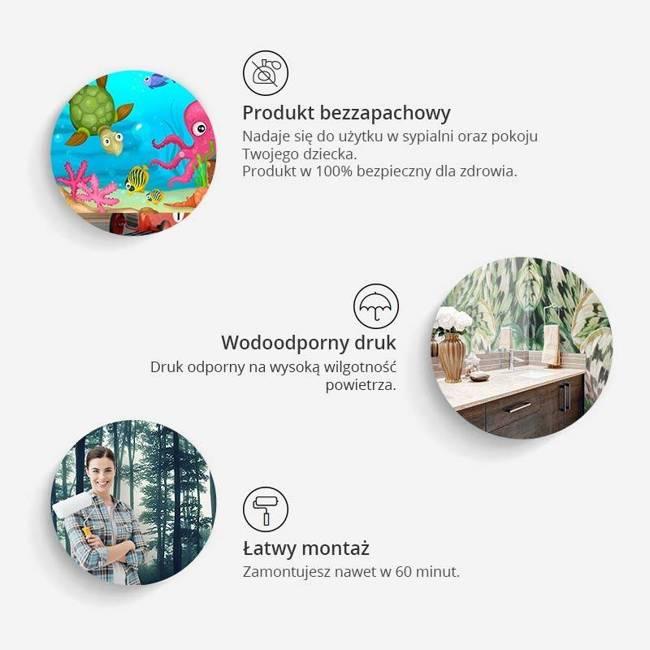 Fototapeta - Herbaciana mapa świata