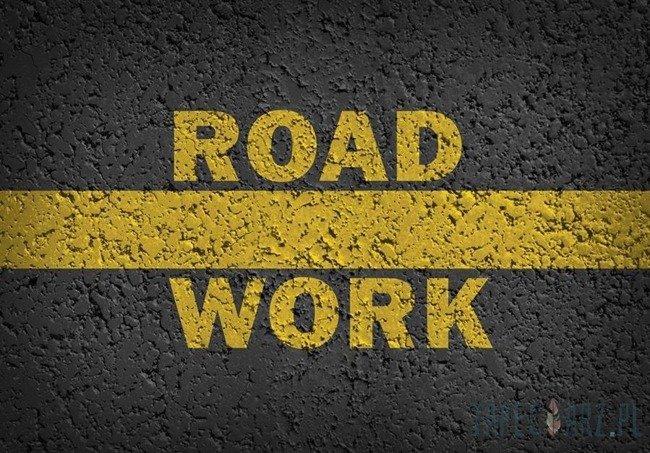 Fototapeta Imitacja droga - ROAD WORK 3724