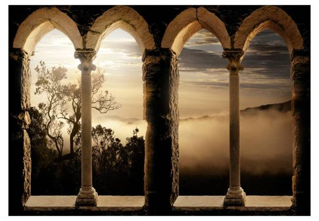 Fototapeta - Klasztor w górach