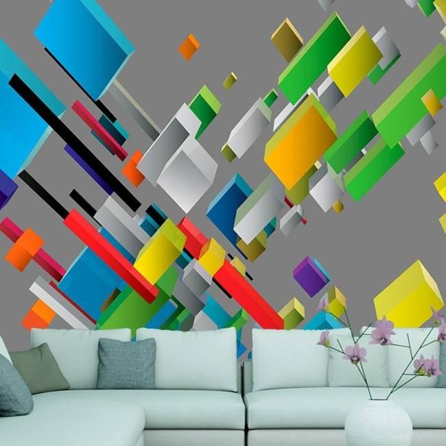 Fototapeta - Kolorowa układanka