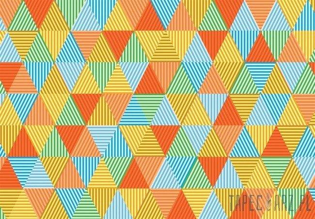 Fototapeta Kolorowe trójkąty 10758