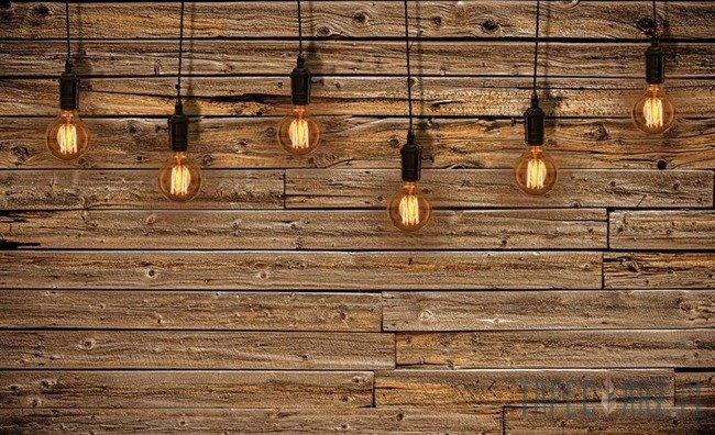 Fototapeta Lampki na drewnie 3373