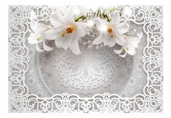 Fototapeta - Lilie i ornamenty