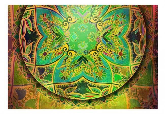 Fototapeta - Mandala: Szmaragdowy fantazja