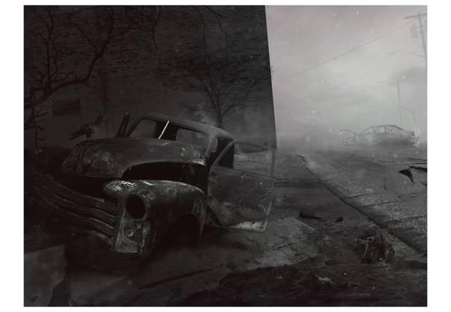 Fototapeta - Miasto strachu