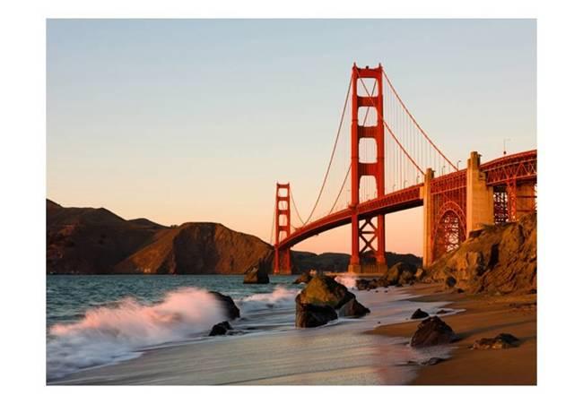 Fototapeta - Most Golden Gate - zachód słońca, San Francisco