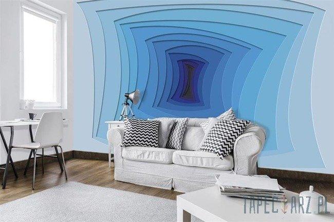 Fototapeta Niebieski tunel 10125