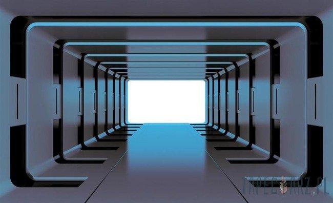 Fototapeta Niebieski tunel 3D 2799