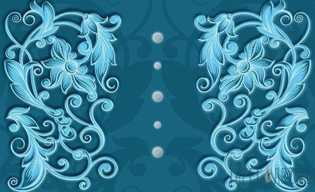 Fototapeta Niebieskie ornamenty 2935