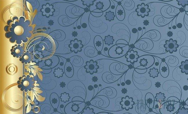 Fototapeta Niebiesko-złoty ornament 2028