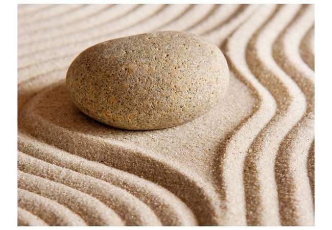 Fototapeta - Piasek i kamień zen