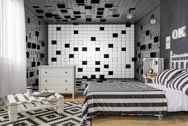 Fototapeta Pokój z sześcianów 3D 2582
