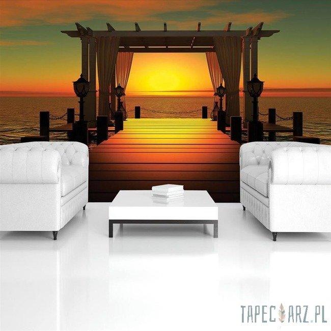 Fototapeta Pomost o zachodzie słońca 420