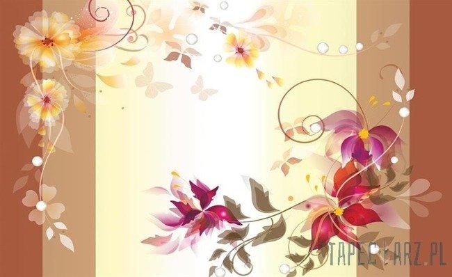 Fototapeta Prosty wzór z kwiatami 545