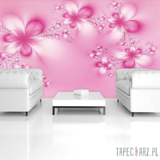 Fototapeta Różowe kwiatki 412