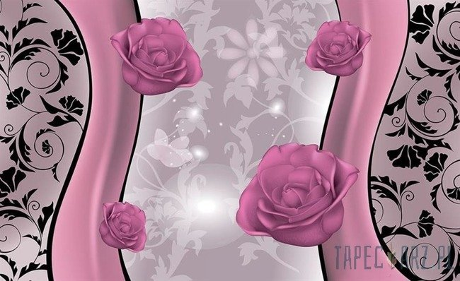 Fototapeta Różowe róże 1241