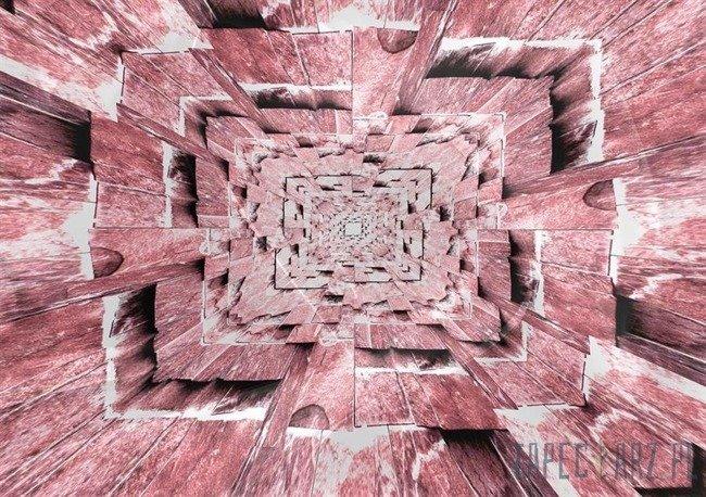 Fototapeta Różowy tunel 3d 3718