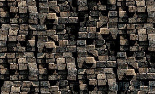 Fototapeta Stos drewnianych belek 2913