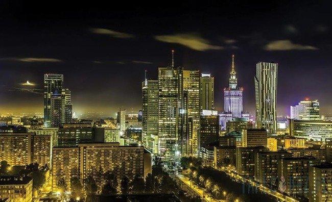 Fototapeta Warszawa nocą 1169