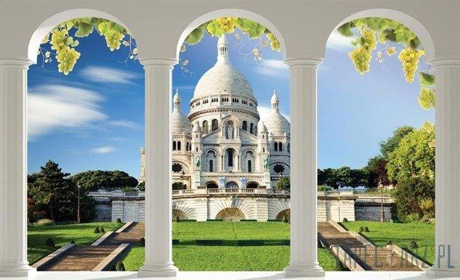 Fototapeta Widok na Bazylikę Sacre Coeur  przez kolumny 2361
