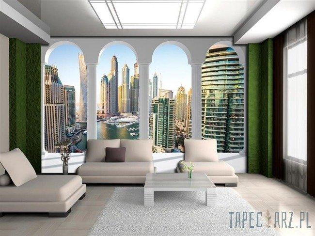 Fototapeta Widok na Dubaj przez kolumny 2358