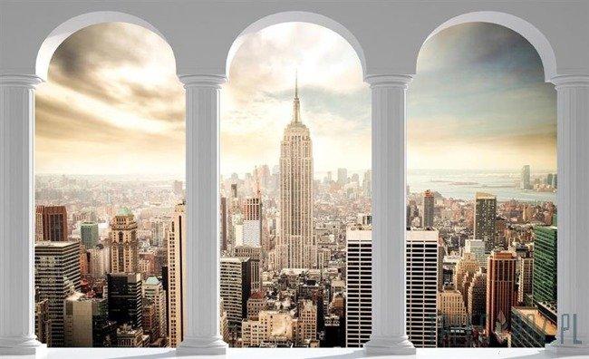Fototapeta Widok na Nowy Jork przez kolumny 2344