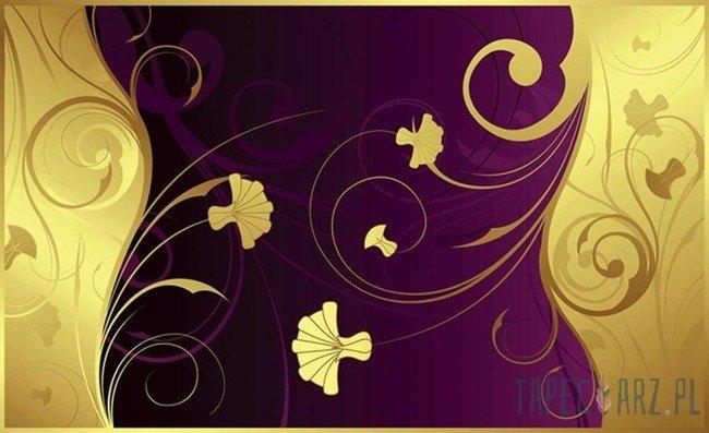 Fototapeta Żółte kwiaty na fioletowym tle 2054