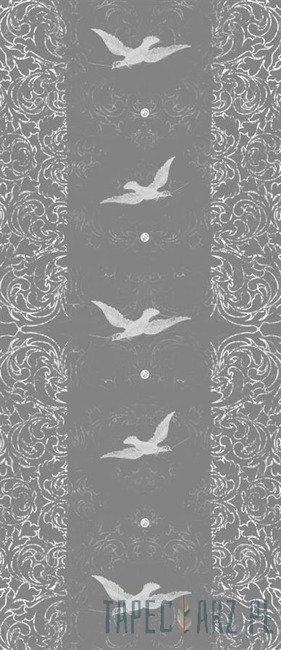 Fototapeta na drzwi Białe ptaki na szarym tle 2478VET/SKT