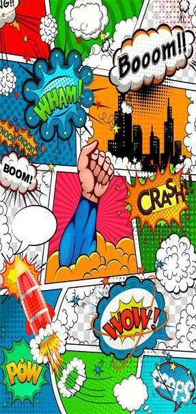 Fototapeta na drzwi - Komiksowy świat