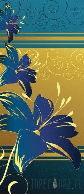 Fototapeta na drzwi Niebieskie kwiaty 2084VET/SKT