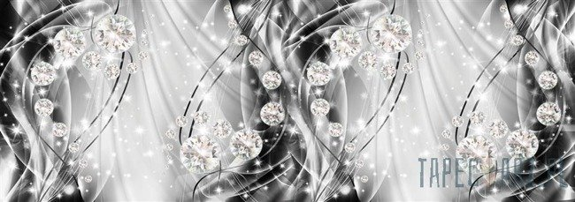 Fototapeta na flizelinie Abstrakcja, diamenty, srebro 10406VEE