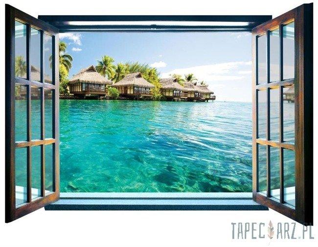 Fototapeta na flizelinie Hawaje - Widok przez otwarte okno 825