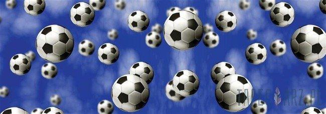 Fototapeta na flizelinie Piłki nożne na niebieskim tle 1546VEE