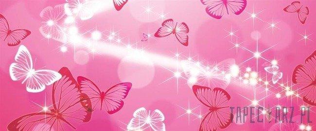 Fototapeta na flizelinie Różowe motylki 332VEP
