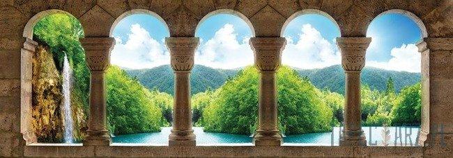 Fototapeta na flizelinie Widok na wodospad 1495VEE