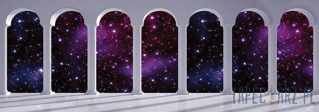 Fototapeta na flizelinie Widok przez kolumny na gwiazdy 2674VEE